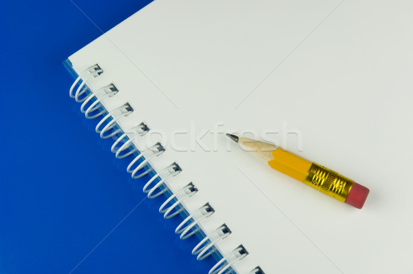 Short yellow pencil and a notepad Stock photo © pixpack