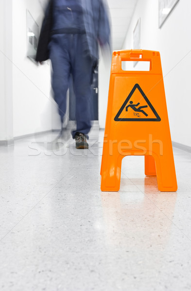 Slip hazard Stock photo © pixpack