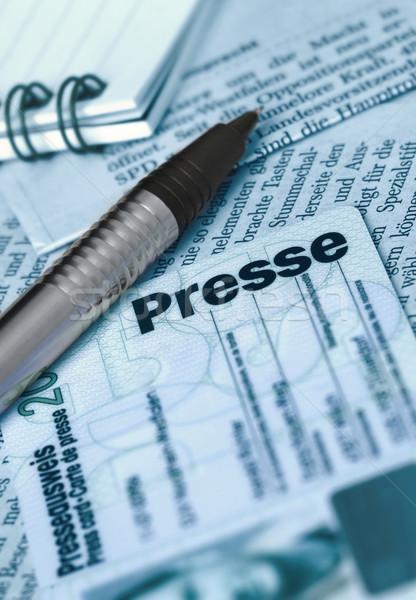 Medya kart gazeteler Stok fotoğraf © pixpack