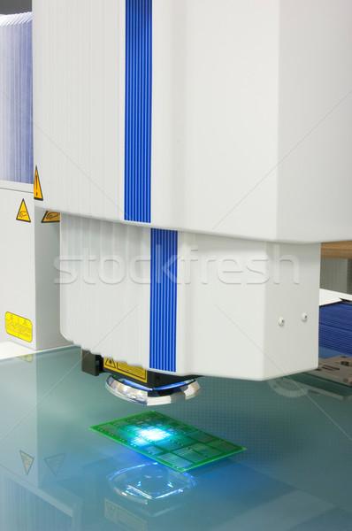 Stockfoto: Visie · monitor · test · maatregel · instrument
