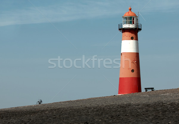 Lighthouse near town of Westkapelle, the Netherlands Stock photo © pixpack
