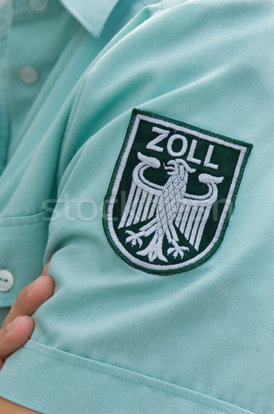 Label of a german customs officer Stock photo © pixpack