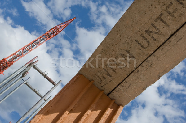 Girder at a construction site Stock photo © pixpack