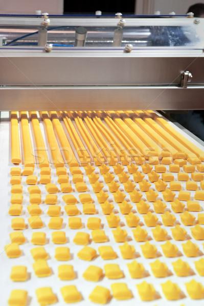 Foto stock: Produção · biscoitos · indústria · arquivo · padaria · fabrico