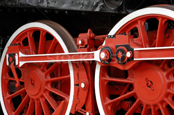 Wheels of a vintage steam locomotive Stock photo © pixpack