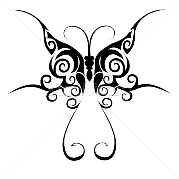 Tribal butterfly tattoo Stock photo © PiXXart