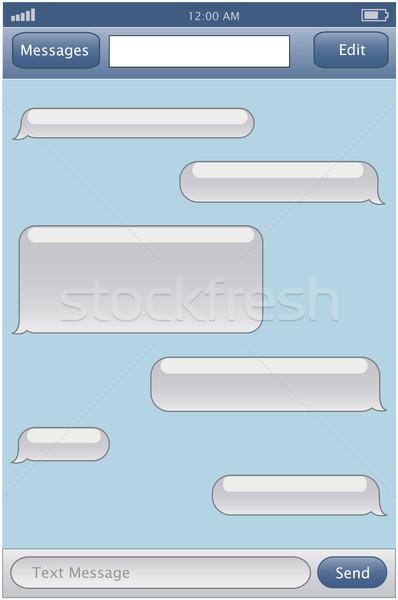 Chat sablon telefon internet háttér hálózat Stock fotó © PiXXart