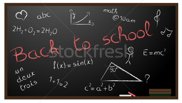 Illustrazione scuola cuore sfondo insegnante Foto d'archivio © PiXXart