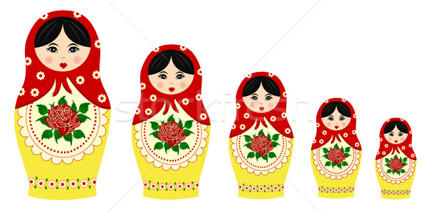 Traditional matryoschka dolls Stock photo © PiXXart