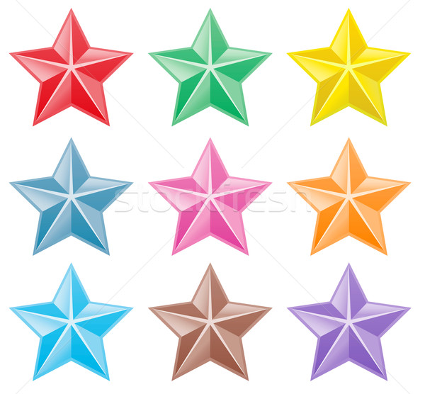 Raccolta colorato stelle arte star colore Foto d'archivio © PiXXart