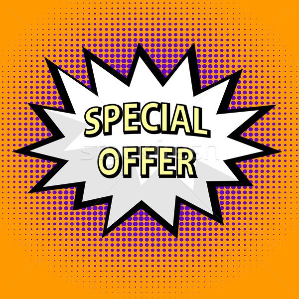 Special offer label in pop art style Stock photo © PiXXart