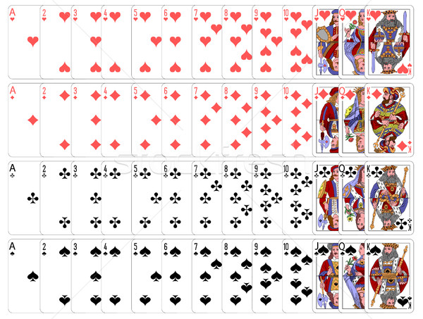 Complete playing card set Stock photo © PiXXart
