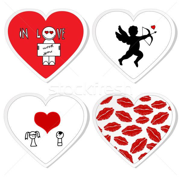 Love stickers - set 1 Stock photo © PiXXart