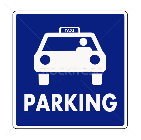 Taxi parking sign Stock photo © PiXXart