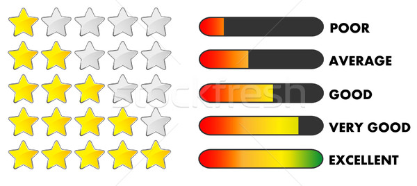 Rating stars and bars Stock photo © PiXXart