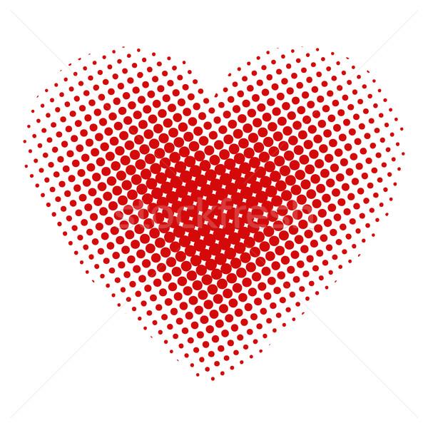 Coeur en demi-teinte mariage amour fond art Photo stock © PiXXart