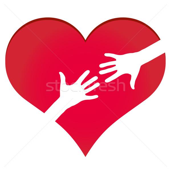 Mani altro cuore simbolo business salute Foto d'archivio © PiXXart