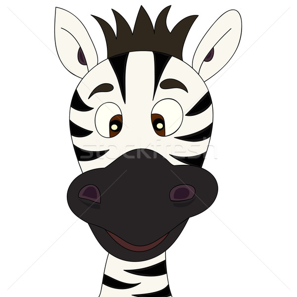 Stock photo: Zebra cartoon