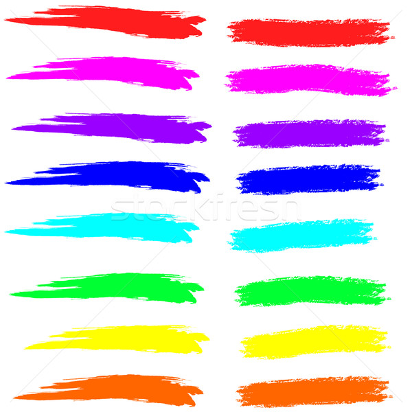 Paint and chalk strokes in spectrum colors Stock photo © PiXXart