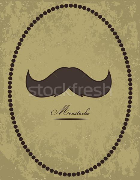 Moustache background Stock photo © PiXXart