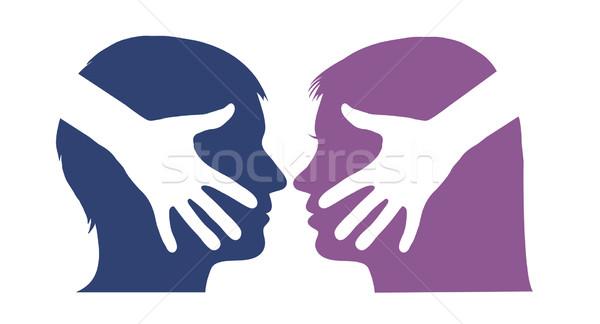 握手 男 女性 ビジネス オフィス 作業 ストックフォト © PiXXart