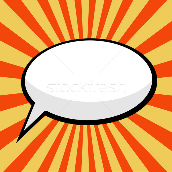 pop art comic speech bubble Stock photo © PiXXart