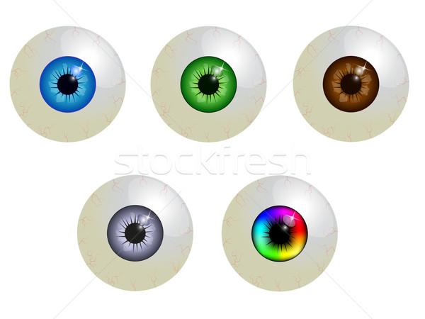 Establecer medicina color humanos visión macro Foto stock © PiXXart