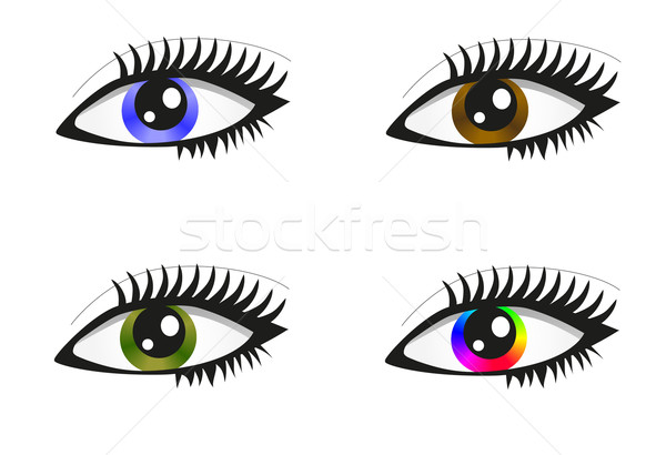 Collection of beautiful colored eyes Stock photo © PiXXart