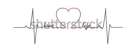 Miłości życia bicie serca streszczenie tle monitor Zdjęcia stock © PiXXart