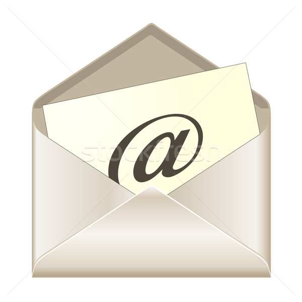 E-mail vector kantoor ontwerp technologie contact Stockfoto © PiXXart