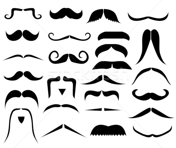 Set of moustaches Stock photo © PiXXart