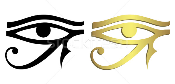 Eye of Horus in black and gold Stock photo © PiXXart