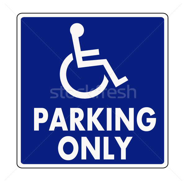 Handicapped parking sign Stock photo © PiXXart