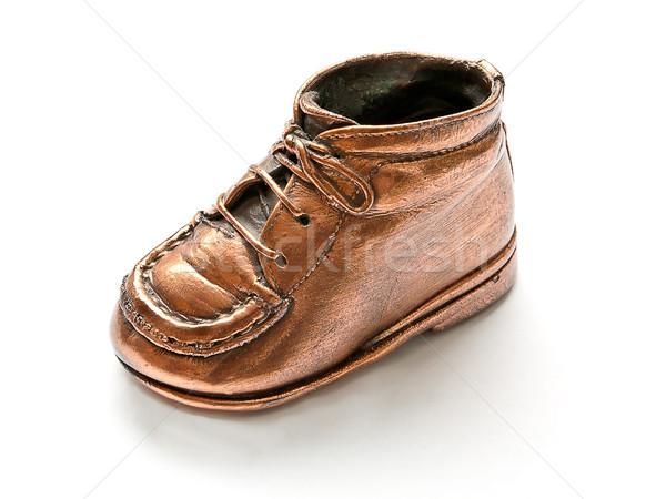 Blanche bronze enfants enfant mère chaussures Photo stock © PiXXart
