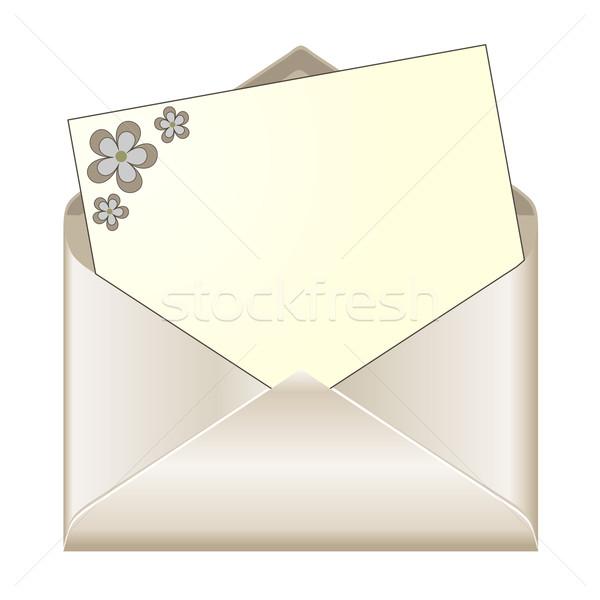 Abierto dotación floral papelería textura diseno Foto stock © PiXXart