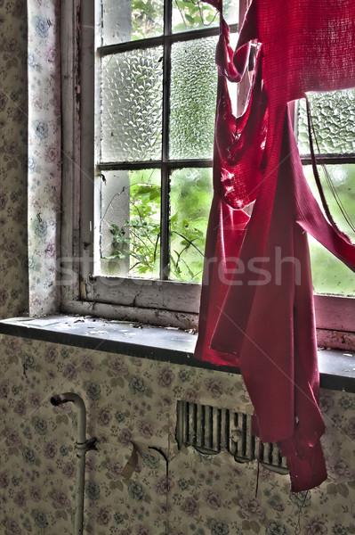 Finestra abbandonato casa costruzione costruzione luce Foto d'archivio © PiXXart