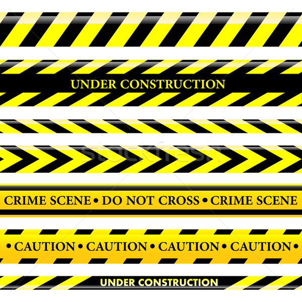 Set of danger and police lines Stock photo © PiXXart