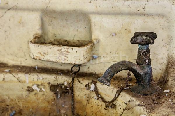 Old dirty sink Stock photo © PiXXart