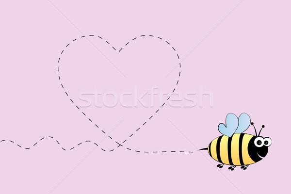 Bee in love Stock photo © PiXXart
