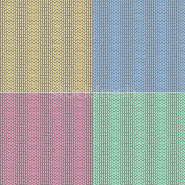 4 seamless knit patterns Stock photo © PiXXart