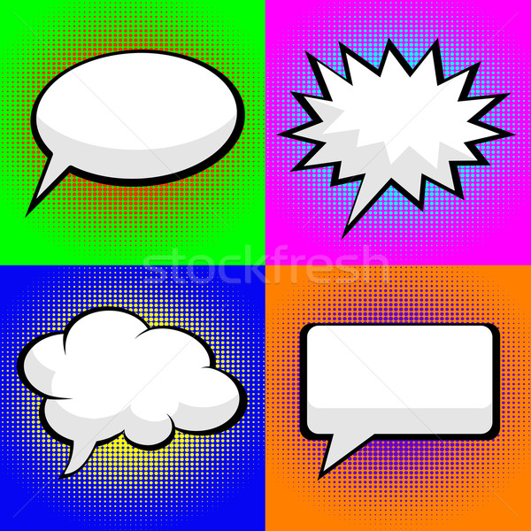 pop art comic speech bubbles Stock photo © PiXXart