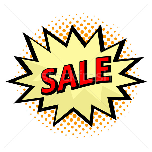 Sale label in pop art style Stock photo © PiXXart