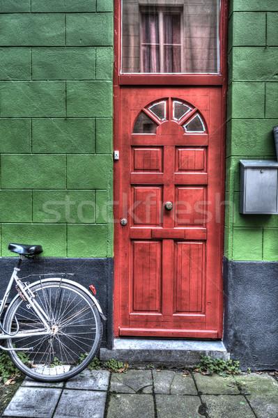 Bright red door Stock photo © PiXXart