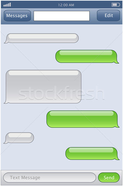 phone chat template Stock photo © PiXXart