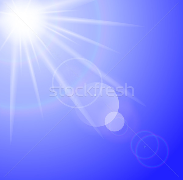 Sun with lens flare background  Stock photo © PiXXart