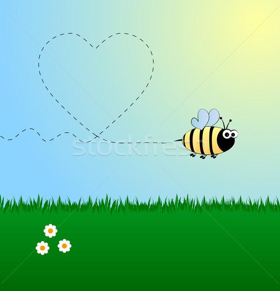 Stock photo: Bee in love