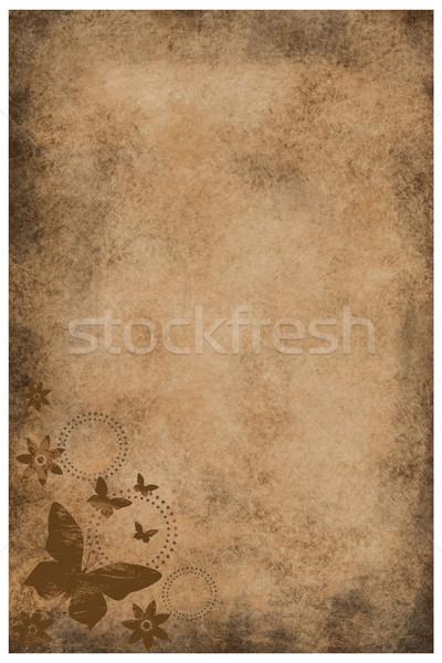 Vintage grunge carta decorativo elementi fiore Foto d'archivio © PiXXart