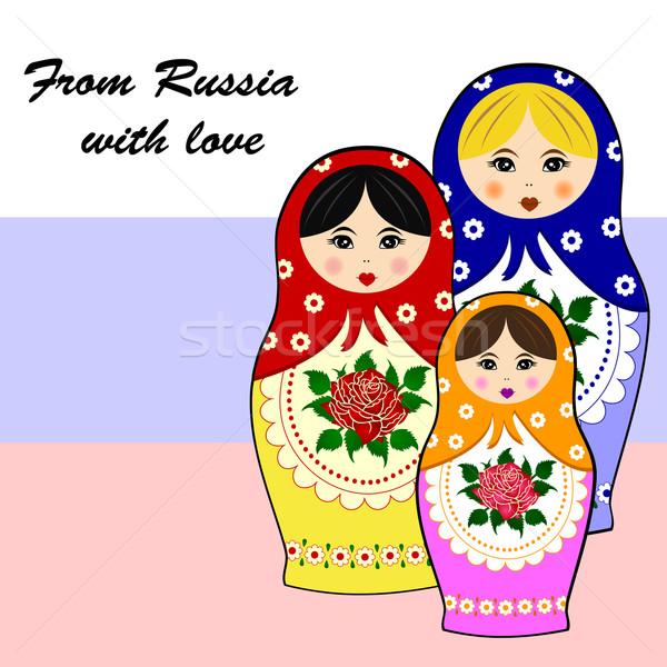 Traditional russian matryoschka dolls Stock photo © PiXXart