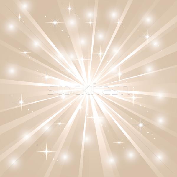 Bright sunburst with sparkles Stock photo © PiXXart