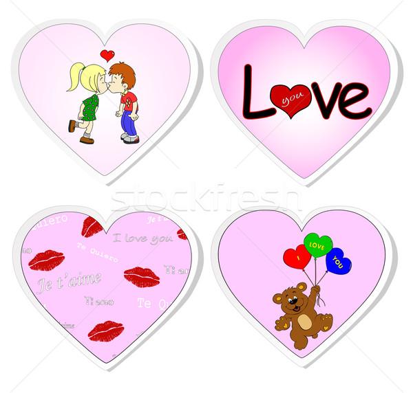 любви набор пару губ несут Сток-фото © PiXXart